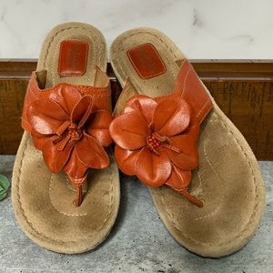 Clark's Artisan Leather Sandals Orange Size 8M